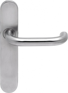 Chase Stainless Steel Latch Door Handle on Backplate | Hafele