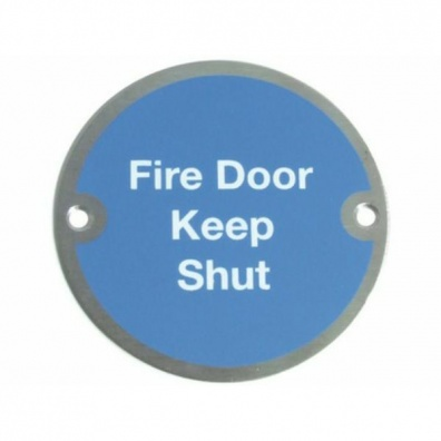 ''Fire Door Keep Shut'' Mandatory Door Sign
