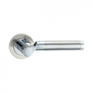 Olympia Dual Finish Lever on Rose Door Handles