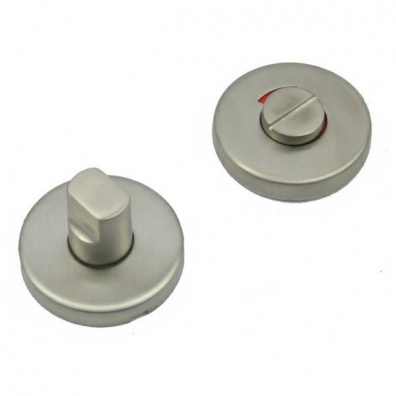 Concealed Bathroom Turn & Release with Indicator - Stainless Steel