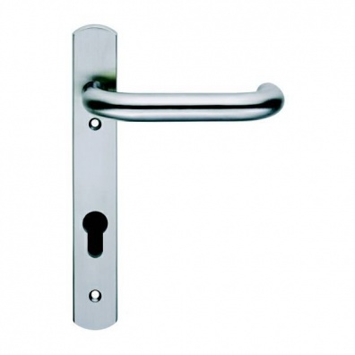 19mm Dia Lever Door Handle on Euro Narrow Plate, 92PZ