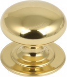 Brass Victorian Door Knob in Polished Chrome