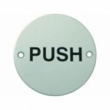 ''Push'' Text Door Sign