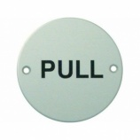 ''Pull'' Text Door Sign