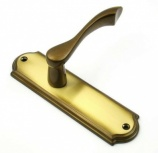 Regent Designer Brass Latch Door Handles - Hot Forged | Loxta