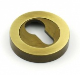 2 Part Premium Brass Euro Escutcheon | Loxta