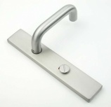 Return To Door Handle on 230mm Concealed Bathroom Plate | Loxta